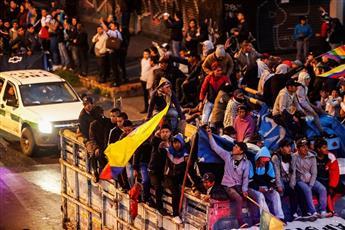 رئيس الإكوادور يفرض حظر التجوال بسبب احتجاجات عنيفة ضد إجراءات التقشف