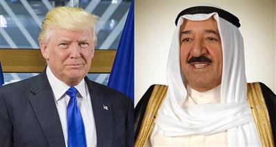 سمو الأمير الشيخ صباح الأحمد الجابر الصباح والرئيس الامريكي دونالد ترامب