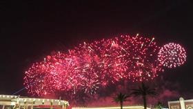 الألعاب النارية في سماء الرياض