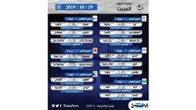 أبرز المباريات المحلية والعالمية ليوم السبت 19 أكتوبر 2019