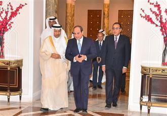 الرئيس السيسي أثناء استقباله رئيس مجلس الوزراء