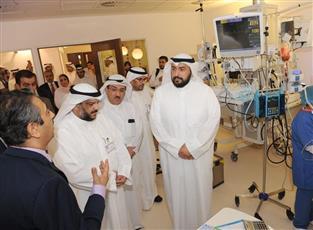 جانب من جولة وزير الصحة في مستشفى الجهراء الجديد