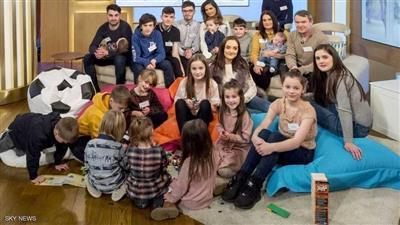 أكبر عائلة بريطانية تنتظر مولودها الـ22