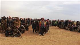 عناصر من تنظيم داعش الإرهابي يسلمون أنفسهم لقوات سوريا الديمقراطية