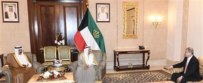 سمو الأمير يستقبل السفير العراقي بمناسبة انتهاء مهام عمله