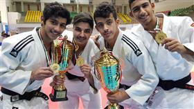لاعبو منتخب الكويت للجودو الحاصلون على الميداليات الذهبية