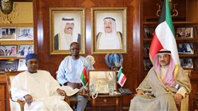 وزير الخارجية الكويتيي يستقبل وزير خارجية جمهورية بوركينا فاسو