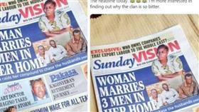 أوغندية تتزوج 3 رجال دفعة واحدة