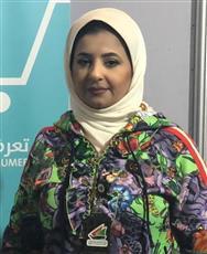 مسؤولة جناح وزارة التجارة والصناعة في الاسبوع الكويتي ال 12 مشاعل الجساس
