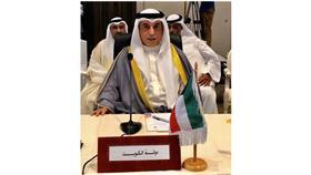 رئيس وفد الكويت المشارك في المؤتمر وزير التربية والتعليم العالي حامد العازمي