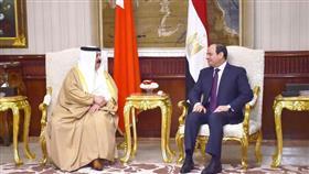 الرئيس المصري يلتقي العاهل البحريني