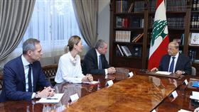 الرئيس اللبناني خلال لقائه مع رئيس بعثة الاتحاد الاوروبي في لبنان