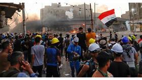 جانب من التظاهرات التي يشهدها العراق