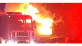 إخماد حريق «كرفان» بالجابرية