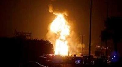 اشتعال النيران في خط نقل مواد بترولية في محافظة البحيرة