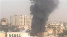 العراق.. حريق كبير قرب تجمع للمحتجين وسط بغداد