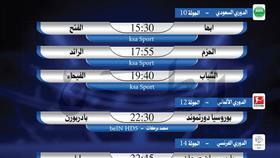 أبرز المباريات العربية والعالمية ليوم الجمعة 22 نوفمبر 2019