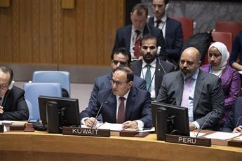 السفير منصور العتيبي يلقي كلمة في جلسة مجلس الأمن