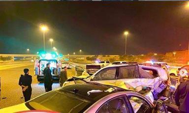 وفاة مواطن وإصابة آخرين في حادث تصادم على طريق جاسم الخرافي