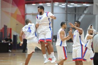 فرحة لاعبي منتخب الكويت لكرة السلة