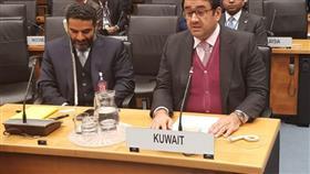 السفير صادق معرفي يلقي كلمة الكويت