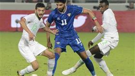 جانب من مباراة منتخب الكويت ونظيره السعودي