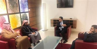 سفير الكويت لدى النمسا خلال استقباله وزير النفط ووزير الكهرباء والماء