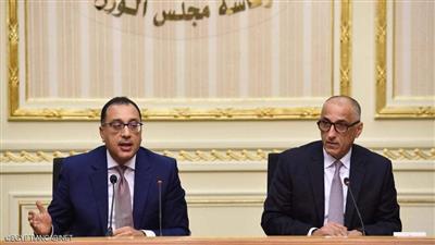 رئيس الوزراء مصطفى مدبولي ومحافظ البنك المركزي طارق عامر