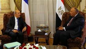 وزيرا خارجية مصر وفرنسا يؤكدان عدم مشروعية اتفاق «تركيا والسراج»