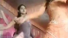 الراقصة الشابة قبل تعرضها لإطلاق النار