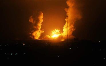 طائرات الاحتلال تقصف مواقع تابعة لحركة حماس بقطاع غزة