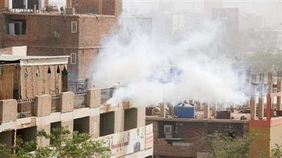 استخدام الغاز المسيل للدموع ضد المتظاهرين في الخرطوم يوم 7 فبراير 2019