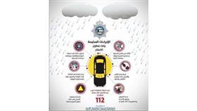 «الداخلية» لقائدي المركبات: الحذر لسوء الأحوال الجوية