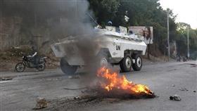 استمرار الاحتجاجات العنيفة ضد السلطة في هايتي بسبب الفساد