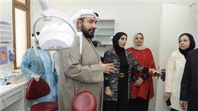 وزير الصحة الشيخ الدكتور باسل الصباح يتفقد عيادة الاسنان في مركز شمال الصليبيخات الصحي