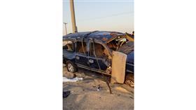 وفاة مصريين وإصابة 9 آخرين إثر انقلاب مركبة على طريق «كبد»