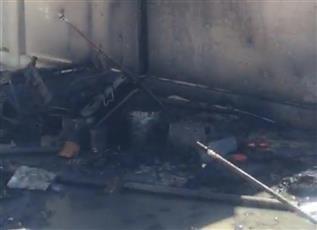 إخماد حريق بقالة في منطقة الوفرة السكنية