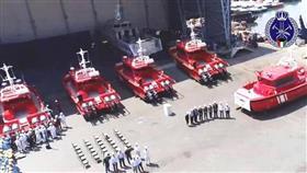 الإطفاء تتسلم 5 زوارق جديدة للتدخل السريع