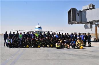 «الإطفاء» نفذت تمرينًا عمليًا في مبنى الركاب الجديد «T4»