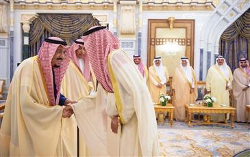 خادم الحرمين الشريفين يتسلم أوراق اعتماد سفير الكويت لدى المملكة