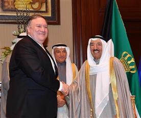 سمو الأمير يستقبل وزير الخارجية الأمريكي