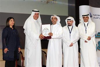 جانب من تكريم المشاركين في ملتقى رحالة الكويت الأول