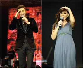 إليسا وماجد المهندس في حفل غنائي مشترك بالسعودية