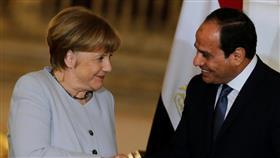 ميركل أكدت للسيسي تمسكها بالحل السياسي في ليبيا