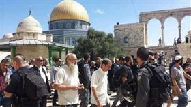 مئات المستوطنين يقتحمون باحات المسجد الأقصى وسط حراسة مشددة