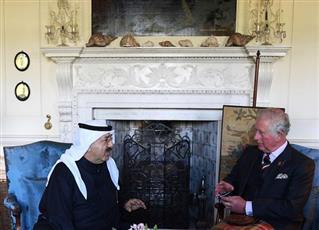 ولي عهد بريطانيا يستقبل الشيخ ناصر صباح الأحمد الصباح