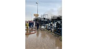 إخماد حريق مخزن تابع لوزارة التربية بمنطقة صبحان.. ولا إصابات