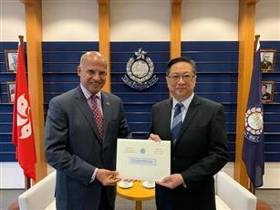 مفوض شرطة هونغ كونغ يزور الكويت لبحث تعزيز التعاون وتبادل الخبرات