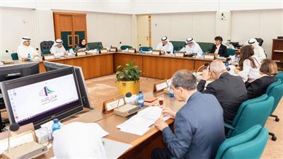 جانب من اجتماع لجنة الشؤون المالية والاقتصادية البرلمانية