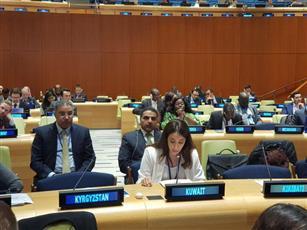 السكرتير الأول في البعثة الكويتية الدائمة بالأمم المتحدة منى بهبهاني